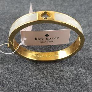 Kate spade pearlescent spade bracelet